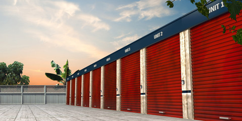 storage units Wall mural