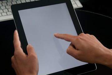 Tablet computer benutzen