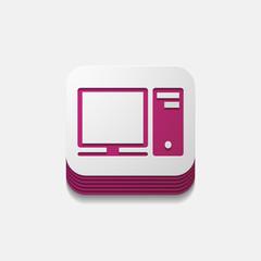 square button: computer