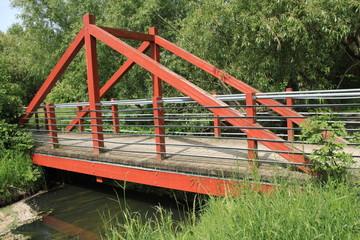 Hölzerne Brücke über die Glinze in Wittstock,