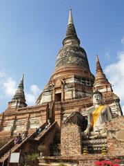 Wat Yai Chai Mongkon, Ayutthaya, Thailand, Asien