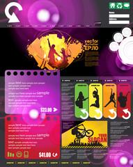 Music Themed Webtemplate
