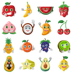 Fruit character icons
