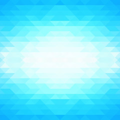 Abstract blue background with triangles