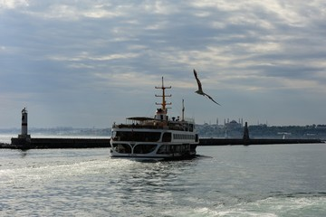 An Istanbul Evening with classic steamer