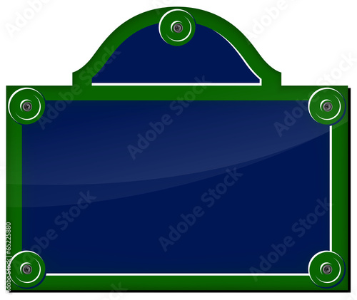plaque de rue parisienne fichier vectoriel libre de droits sur la banque d 39 images. Black Bedroom Furniture Sets. Home Design Ideas