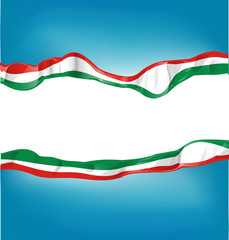 background with Italian and mexican flag