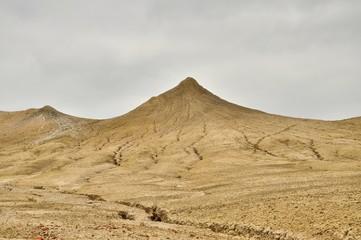 Muddy volcano peak view