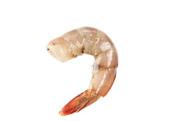 One raw shrimp.
