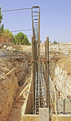 Construction site - Preparation for building foundation