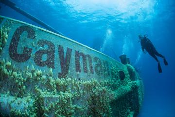 Wall Mural - Cayman Shipwreck