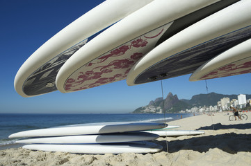 Stand Up Paddle Surfboards Ipanema Rio Brazil
