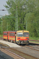Two-carriage suburban electric train. Kestkhey, Hungary