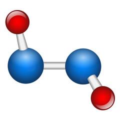 Single hydrogen peroxide H2O2 molecule