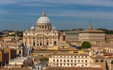 View of St. Peter's Basilica in Rome, Italy