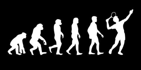 Vom Affen zum (Menschen) Tennis Spieler