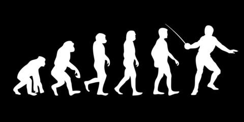 Vom Affen zum (Menschen) Fechter