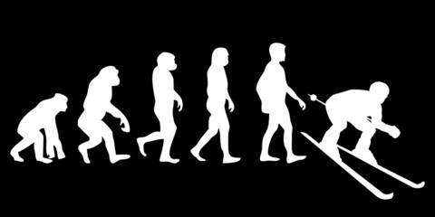 Vom Affen zum (Menschen) Ski Fahrer