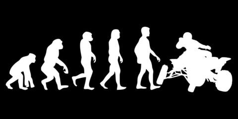 Vom Affen zum (Menschen) Quad Fahrer