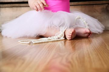 Baby ballerina feet