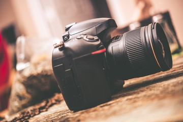 Digital Camera on Table