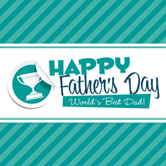Happy Fathers Day Emblem