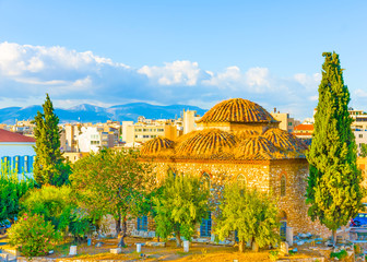 beautiful view  of the old part of Athens Greece