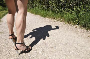 Drag queen legs