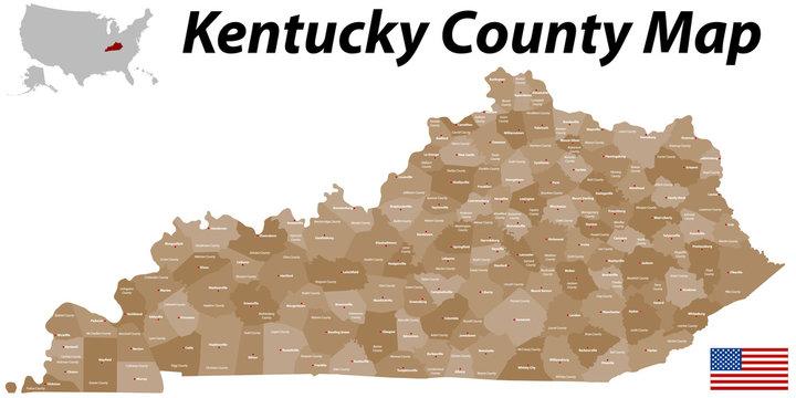 Kentucky County Map