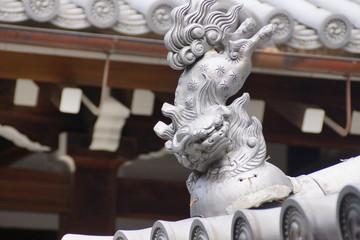 西本願寺 獅子の留蓋瓦