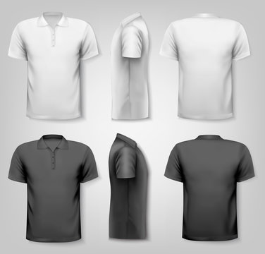 Polo shirts with sample text space. Vector.