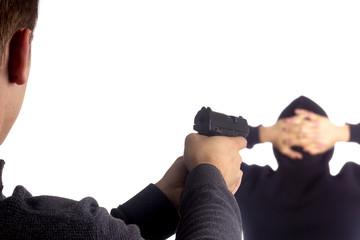 Pistol in hand arrest