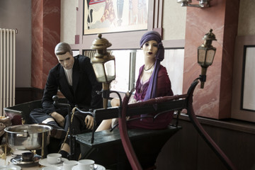 Wall Mural - vintage mannequins