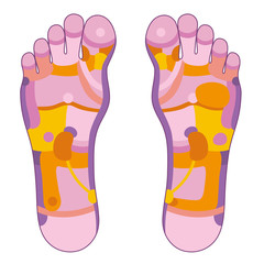 Foot reflexology pink