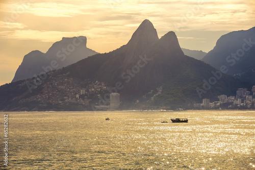 Wall mural Sunset at Copacabana beach, Rio de Janairo, Brazil