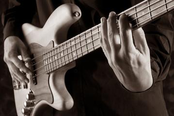 playing jazz bass