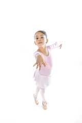 young Ballerina girl dancing Ballet wearing pink tutu
