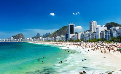 Fotobehang - view of Copacabana beach in Rio de Janeiro, Brazil