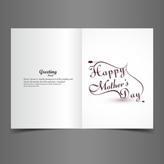 Mother's day typography beautiful greeting card creative text de