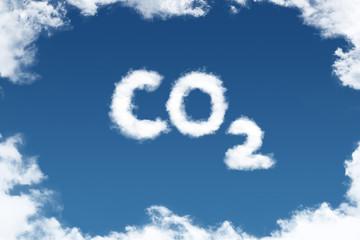 Schrift am Himmel - CO2