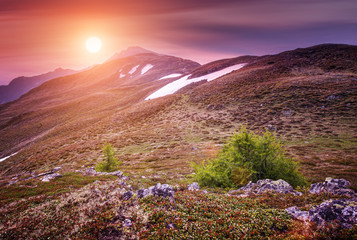 Foto op Plexiglas Zalm Beautiful mountains landscape