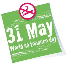 world no tobacco day, no smoking, 31 may