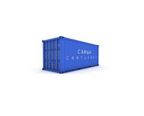 container blu chiuso