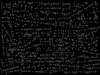 MATHEMATICAL EQUATIONS ON BLACKBOARD (math maths formulae)