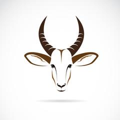Vector image of an deer head (impala)