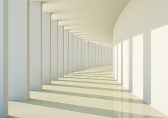 Fototapeta 3D abstract corridor obraz