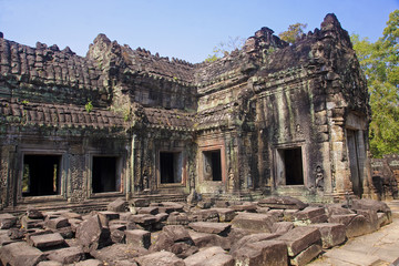 The ruins of the temple of Preah Khan