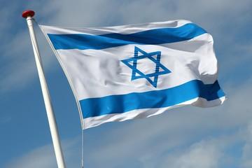 israelische Flagge im Wind