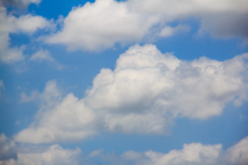 bright clouds with blue sky