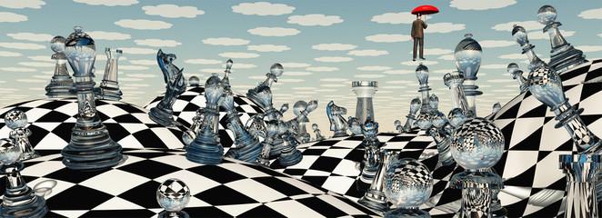 Obraz Surreal Chess Landscape - fototapety do salonu